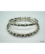 Sterling Silver Bangle Bracelet Chudiyan Traditional Handmade Jewellery - $127.71
