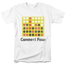 Connect four t shirt classic board game retro 70s 80s toys graphic printed tee white thumb200