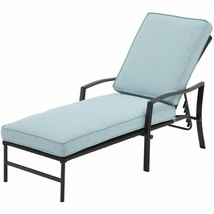Piper Ridge Outdoor Chaise Lounge Blue Patio Balcony Backyard Seats Stee... - $202.95