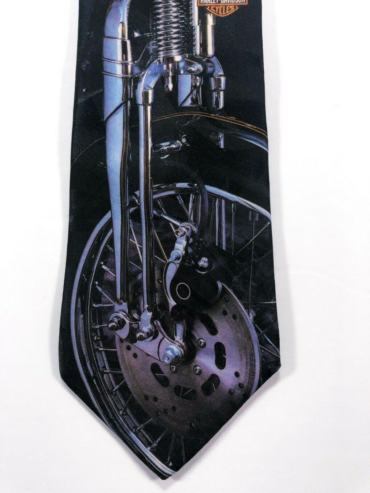 Harley Davidson Neck Tie Chrome Motorcycle The Leading Edge Ralph Marlin image 2