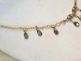 Cookie Lee Genuine Abalone Teardrop Necklace - Item #18291 - New! image 3