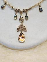 Cookie Lee Genuine Abalone Teardrop Necklace - Item #18291 - New! image 2