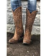 Lane Sagatoga Stud Boot~ Custome Cowgirl Kim Wild Cheetah Print - $199.99