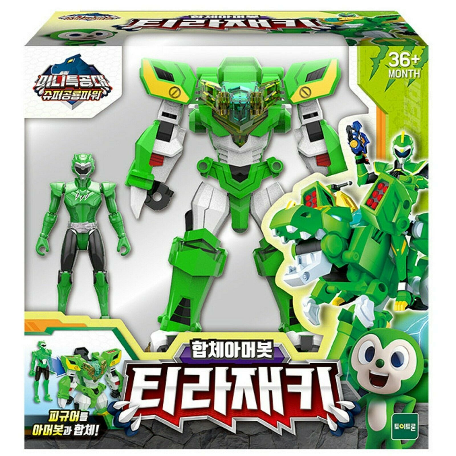 Miniforce Tyra Jackie Transformation Action Figure Super Dinosaur Power Toy