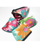 Coin Purse Bag Retro Flowery Style Zipper Jute Bag Hand Made in Thailand - $1.90+
