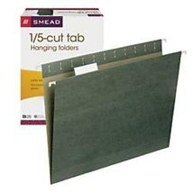 Smead Hanging File Folder with Tab, 1/5-Cut Adjustable Tab, Letter Size,... - $16.91