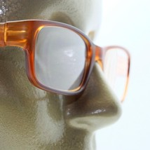 Reading Glasses Modernist Frosted Simple Tech Spring Hinge Frosted Amber... - $18.00