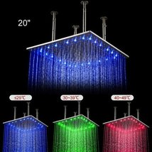 Fuloon 20 inch Stainless Steel Shower Head with Color Changing LED Light - $343.48