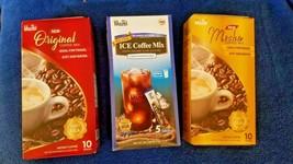3 VARIETY PACK MAZEL INSTANT COFFEE ORIGINAL , MOCHA & ICE COFFEE MIX  - $28.71
