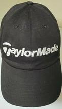 Vintage TAYLOR MADE Strap back Black Adjustable Cap / Hat - 100% Cotton - $14.95