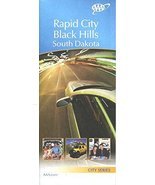 MAP OF RAPID CITY - BLACK HILLS / SOUTH DAKOTA /CITY SERIES /STREETS /HU... - $14.85