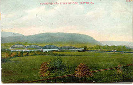 Susquehanna River Bridge Ulster Bradford County Pennsylvania 1907 Post C... - $5.00