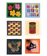 ANDY WARHOL pop art CLOTH PATCH SET 1 ( 6 patches ) - $19.00