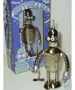 Futurama Tin Wind up Robot Bender Bright N Shiny - $77.36