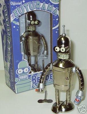 Futurama Tin Wind up Robot Bender Bright N Shiny