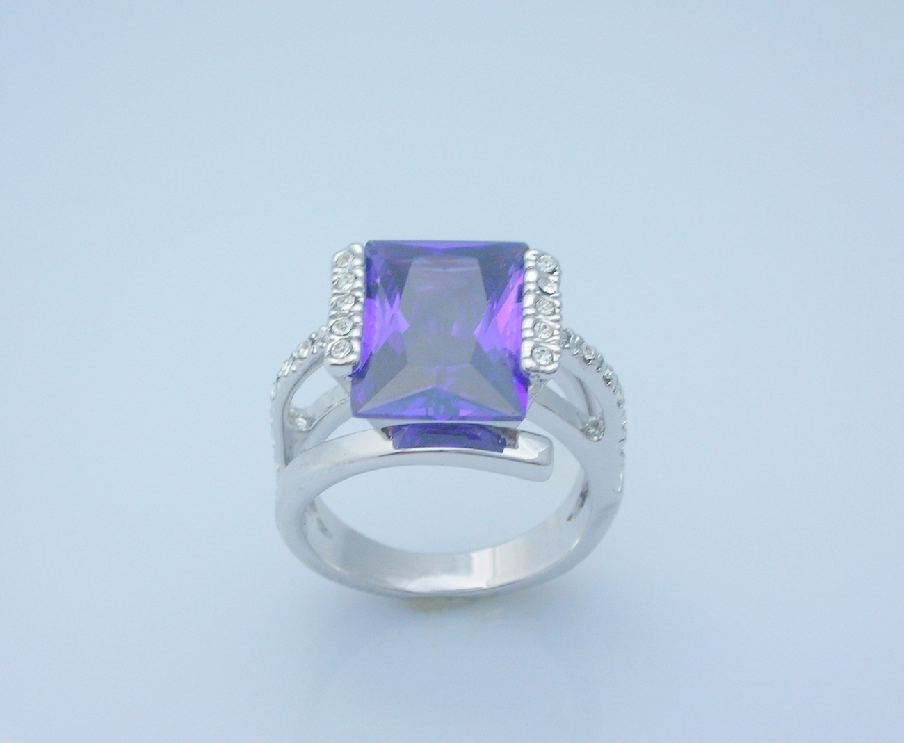 Alexandrite Princess Cut Ladies Fashion Ring Size 8