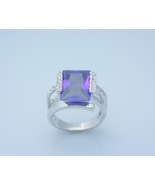 Alexandrite Ring Princess Cut Ladies Size 8 - $25.00