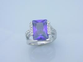 Alexandrite princess cut fashion ring  7  thumb200