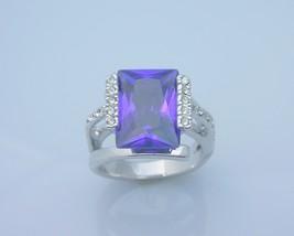 Alexandrite princess cut fashion ring  13  thumb200