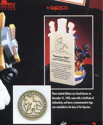 Disney Mickey Mouse Steamboat Willie rare figurine
