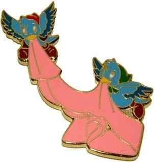 Disney WDCC Cinderella Birds w/ Sash Never Sold Pin