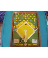 Pressman Action Baseball Metal Lithograph Marble Game circa 1959 - $65.00