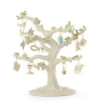 Lenox Tree Of Faith Miniature Ornaments 10 Angel Cross Bible Lamb Dove B... - $89.10