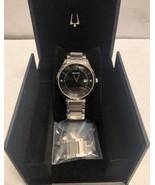 Bulova 96D142 Men's Black Dial Diamond Accent Watch - $48.37