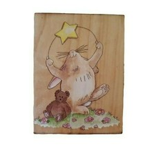 Stamps Happen Inc 60036 Starlight Starbright Wooden Rubber Stamp Bunny T... - $14.84