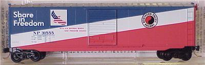 "Micro Trains 77010 NP 'Freedom' 50' Boxcar ""Reefer"""