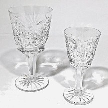 Waterford Crystal Claret Wine Ashling Pattern, Signed, Vintage, Pair, 6 ... - $82.97