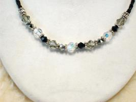 Cookie Lee Austrian Crystal & Braided Leather Cord Necklace - #89157, New! image 2