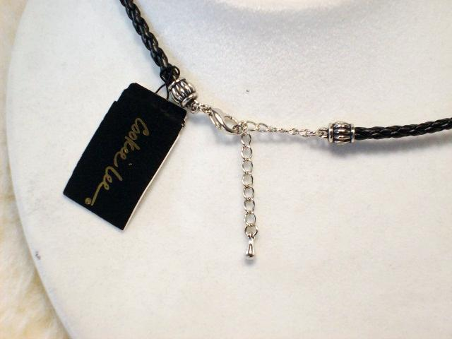 Cookie Lee Austrian Crystal & Braided Leather Cord Necklace - #89157, New! image 4