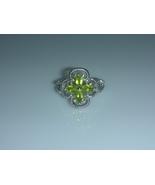 Peridot Four Leaf Clover Ladies Fashion Ring Size 6 - $20.00