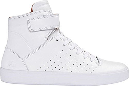 Lacoste Women's Tamora Hi 116 2 High Top Sneaker,White Leather (6)