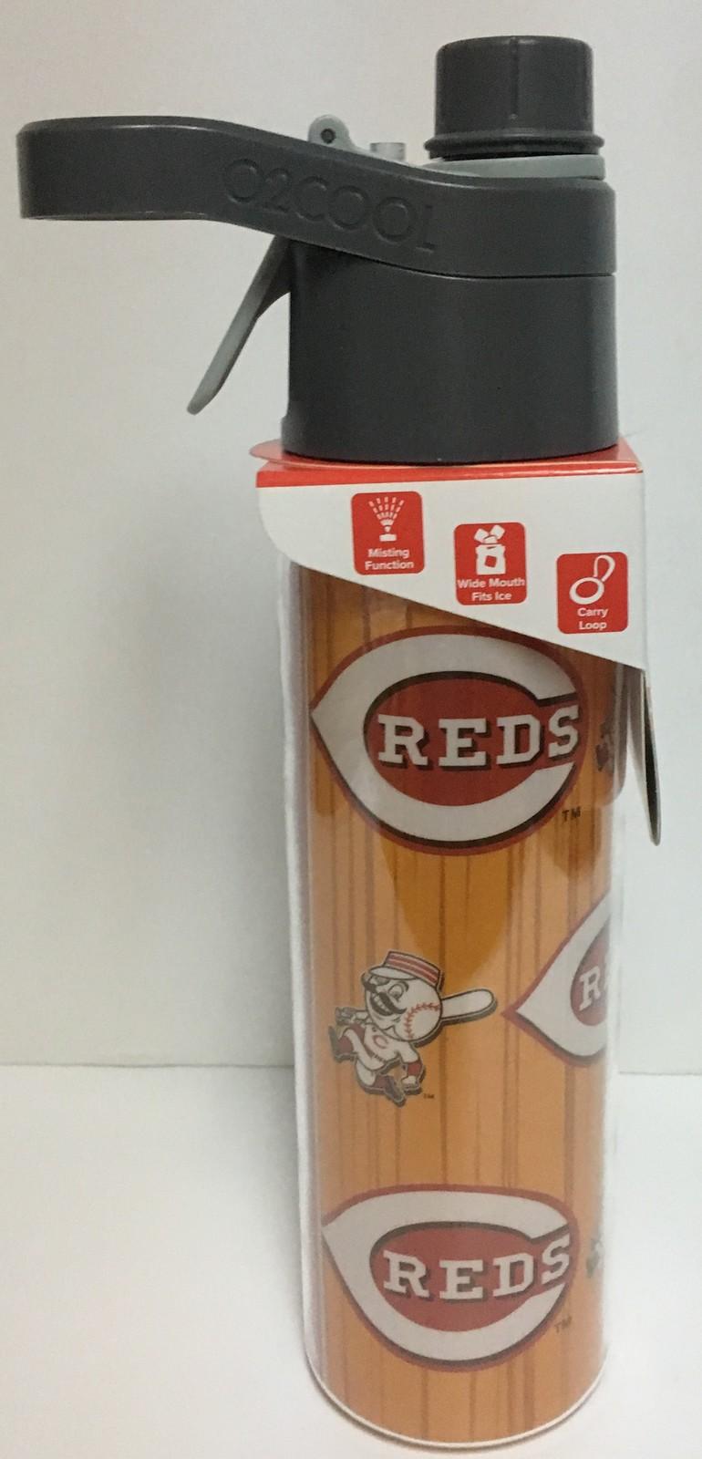 Mist 'N Sip Cincinnati Reds Insulated Water Bottle Mister 20 OZ MLBP 02Cool
