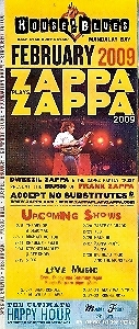 Zappa Zappa Vegas House of Blues Promo Brochure