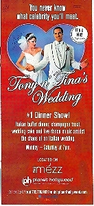 Las Vegas Tony N Tinas's Wedding Promo Card