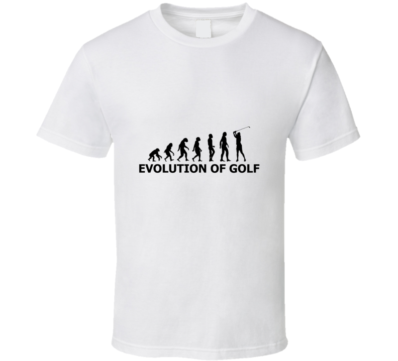 Primary image for Evlution Of Golf Funny Cool Golfer Golfing Fan T Shirt