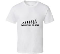 Evlution Of Golf Funny Cool Golfer Golfing Fan T Shirt - $19.99
