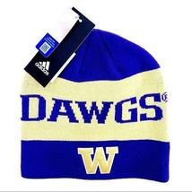 NWT New Adidas Washington Huskies Beanie Winter Hat Purple Mens Womens - $34.99
