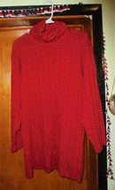 Essentials Bright Red Sweater Long-Xl 16-18-1980's - $7.99