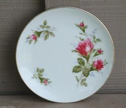 Vintage Sango Bread & Butter Plate Wildrose Pattern ~ Roses w Gold Trim ~ Japan - $9.89