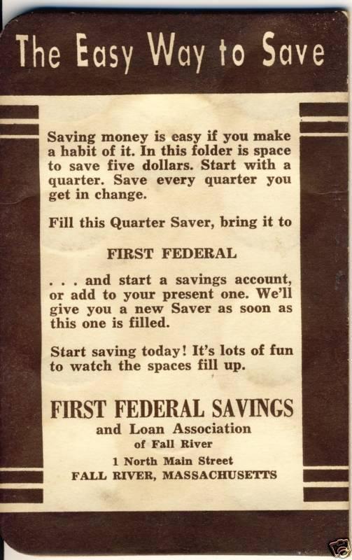 FALL RIVER, MASS/MA,First Federal Savings,Quarter Saver