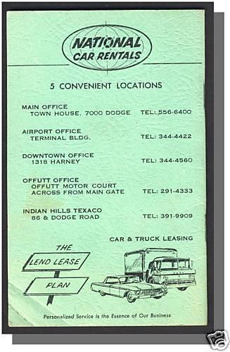 1963 LAND LEASE TRANSPORTATION C0 CALENDAR, Omaha, NE