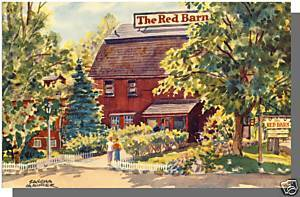 WESTPORT, CONN/CT POSTCARD, The Red Barn Restaurant