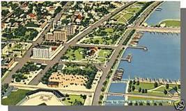 ST. PETERSBURG, FLORIDA/FL POSTCARD, Aerial/Waterfront - $4.50
