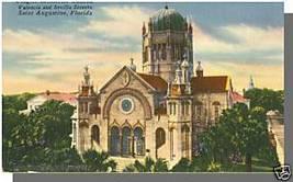 ST. AUGUSTINE, FLORIDA/FL POSTCARD, Flagler Church - $4.00