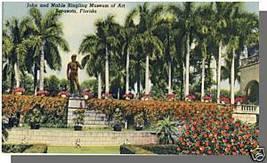 SARASOTA, FLORIDA/FLPOSTCARD, Ringling Museum Of Art - $4.50