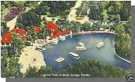 SILVER SPRINGS, FLORIDA/FLPOSTCARD, Aerial View, 1950 - $4.00